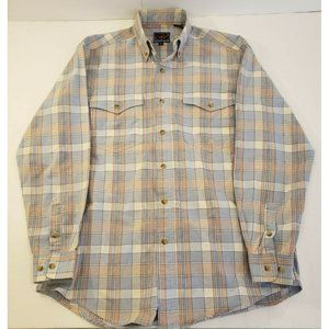 Roper Western Long Sleeve Button Down Mens Small